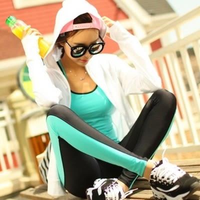 瑜珈服套裝含健身衣+運動褲-韓國跳操晨跑運動背心長褲女運動服3色69n5[時尚巴黎]