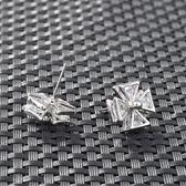 耳環 925純銀 鑲鑽-優雅氣質生日情人節禮物女飾品2色73hz95【時尚巴黎】