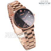 GOTO 羅馬 星星 卡娜赫拉的小動物報時生活 女錶 不銹鋼錶帶 學生錶 玫瑰金x黑 GS0099L-44-341
