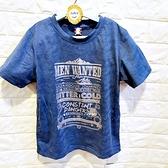 棒棒糖童裝(A63587)夏男大童銀字藍底排汗上衣 120-170