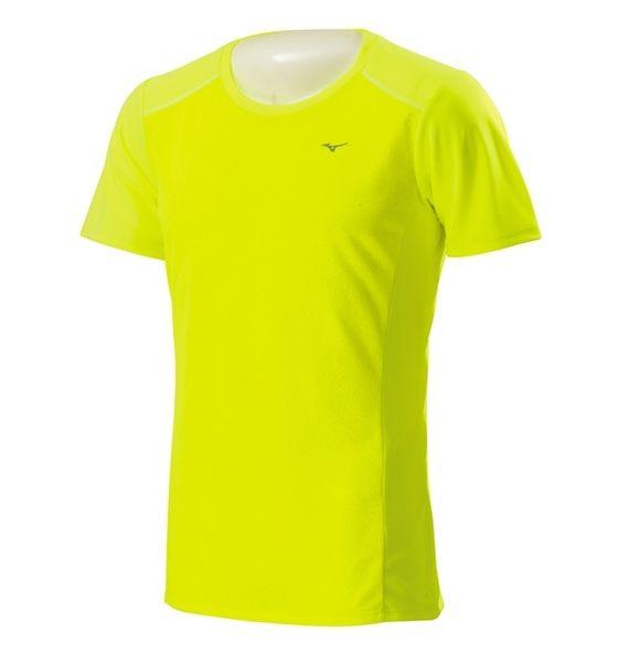 Mizuno  路跑 吸汗速乾 短袖T恤-螢光黃 J2MA600745