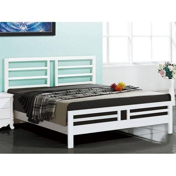 床架 床台 CV-184-1 潔西卡純白6尺床台 (不含床墊.床頭櫃) 【大眾家居舘】