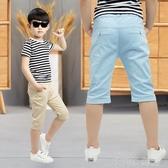 童裝男童七分褲夏季薄款兒童休閒中褲2020夏裝馬褲中大童短褲子潮 茱莉亞