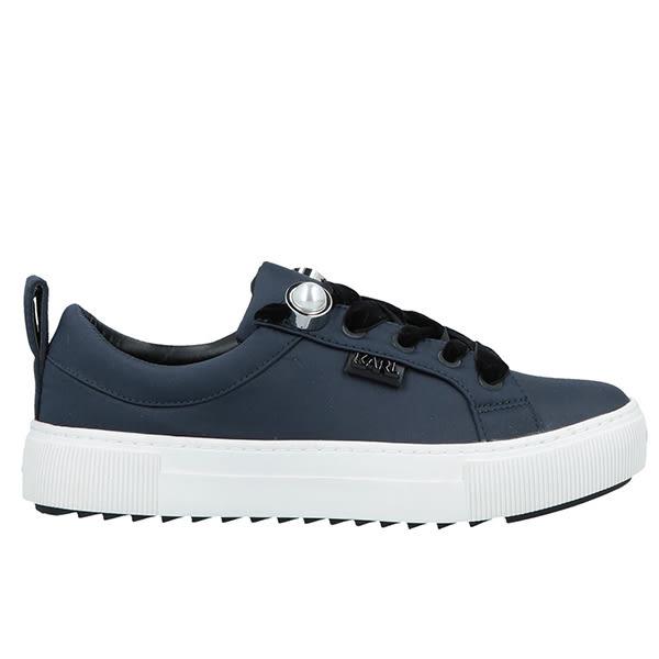 Karl Lagerfeld 卡爾 老佛爺 女鞋  LUXOR珍珠綁帶休閒鞋-深藍