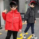 洋氣潮流外套 男童外套韓版外套 秋季中大童百搭夾克外套 時尚休閒男童外套 簡約印花男童外套