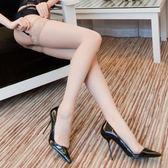 情趣絲襪 絲襪性感情趣騷女長筒過膝高筒長襪黑絲蕾絲開檔吊帶免脫絲襪內衣 萬聖節服飾九折