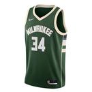NIKE Milwaukee Bucks 男裝 背心 球衣 籃球 公鹿隊 希臘怪物 字母哥 Giannis 綠【運動世界】CW3672-329