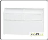 {{ 海中天休閒傢俱廣場 }} C-08 摩登時尚 臥室系列 13507 喬麥5尺白色床頭