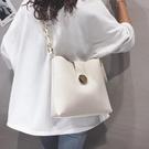 側背包 大容量水桶包包女2021新款高級感洋氣子母單肩包ins百搭斜挎大包【快速出貨八折下殺】