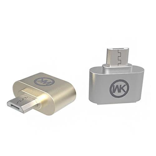WK 樂賞 WT-OTG轉接頭 Micro 充電頭 迷你便攜 鍍鎳接口 /OTG轉接頭
