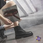 短靴 馬丁靴女英倫風2019新款百搭冬季加絨短靴春秋單靴子ins網紅瘦瘦 2色【快速出貨】
