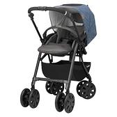 康貝 Combi CROSSGO 手推車-米格藍 •贈尊爵卡.升級2年保固 (嬰兒車/雙向推車)