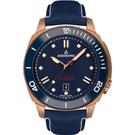 原廠公司貨 品牌LOGO雕花配重擺陀 枕型外殼,透明後底蓋 陶瓷錶框,單向旋轉錶圈
