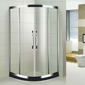 【麗室衛浴】橫拉式304鏡面不銹鋼圓弧淋浴拉門  90*90*190CM 以內