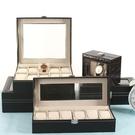 手錶收納盒 皮質表收納盒地攤展示箱擺攤帶鎖歐式手表禮盒包裝盒手表箱【快速出貨八折下殺】