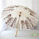 古風雨傘 沛欣晴雨傘白樺樹林16骨復古風木制傘直桿長柄傘男女中國風竹傘-凡屋