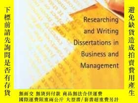 二手書博民逛書店Researching罕見And Writing Dissertations In Business And Ma
