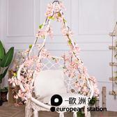 仿真花藤/假櫻花塑料藤花墻面裝飾蔓植物「歐洲站」