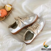 百搭平底小白鞋復古休閒運動板鞋女【創世紀生活館】