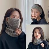 防風女百變戶外掛耳面罩兩用保暖護頸圍巾頭套圍脖秋冬季【櫻田川島】