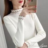 毛衣打底衫女2020秋冬新款半高領加厚針織衫長袖修身內搭洋氣上衣 范思蓮恩