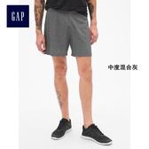 GapFit男裝 干爽鬆緊腰跑步短褲 395743-中度混合灰