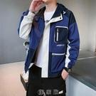 男士夾克潮牌2020秋季新款帥氣韓版潮流休閒連帽時尚印花寬鬆外套 快速出貨