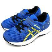 《7+1童鞋》中童 ASICS 亞瑟士 CONTEND 5 PS 透氣網布 運動鞋 慢跑鞋 5181 藍色