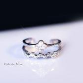 S925純銀 優雅知性 光彩亮麗四葉草戒指-維多利亞181003