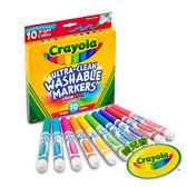 美國Crayola繪兒樂 可水洗粗錐頭彩色筆明亮色10色