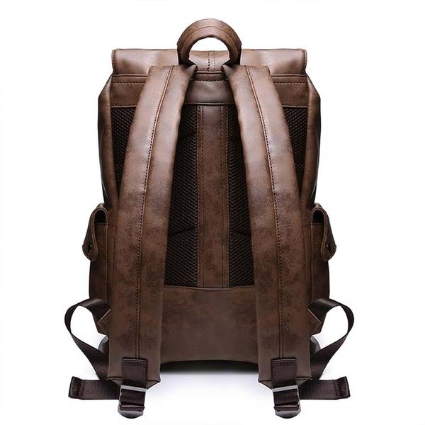 【5折超值價】經典日系原創設計皮質風格後背包