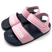 《7+1童鞋》中大童 ADIDAS 輕量 休閒 防水涼鞋 7350 粉色