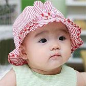 嬰兒帽子男女童薄款太陽帽純棉寶寶盆帽春秋
