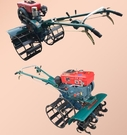 自走式多功能四驅8匹農用水田旱地柴油微耕機坐耕機旋耕機打田機 萬客居