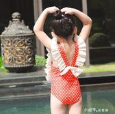 兒童泳衣女孩寶寶可愛連體游泳衣中大童公主女童韓國裙式防曬泳裝 小確幸生活館