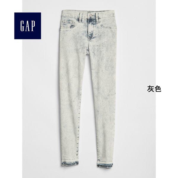 Gap女裝 時尚簡約窄腿牛仔褲 256679-灰色