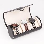 3位圓筒手錶盒 PU皮革高檔珠寶首飾手錶收納展示包裝盒《小師妹》jk55