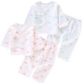 長袖套裝 棉質肚衣 新生兒肚衣套裝 綁帶 紗布衣 嬰兒服 ZH19610 好娃娃