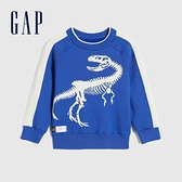 Gap男幼童 Logo撞色條紋針織衫 593025-鈷藍色