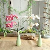 現代簡約仿真盆栽花假花蝴蝶蘭花藝套裝客廳家居裝飾花絹花小盆栽擺件 XY4943【KIKIKOKO】