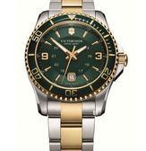 VICTORINOX 瑞士維氏 SWISS ARMY 潛水 手錶 (VISA-241605) 綠金/44mm