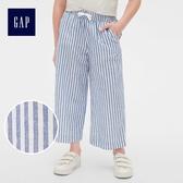 Gap女童 條紋休閒長褲 464027-藍色細條紋