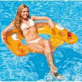 充氣浮床加厚水上沖浪漂流躺椅充氣床浮排泳圈水下漂浮坐椅床 中秋節下殺