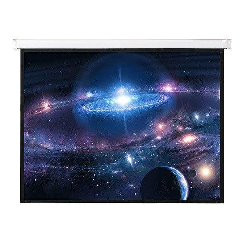 【免運費】ES-150W150吋蓆白電動銀幕8 x10  (244x305cm)
