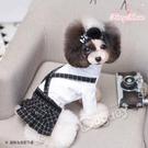 日本《Fancy House》格紋連身吊帶裙 淑女狗狗 名媛 日系寵物時尚