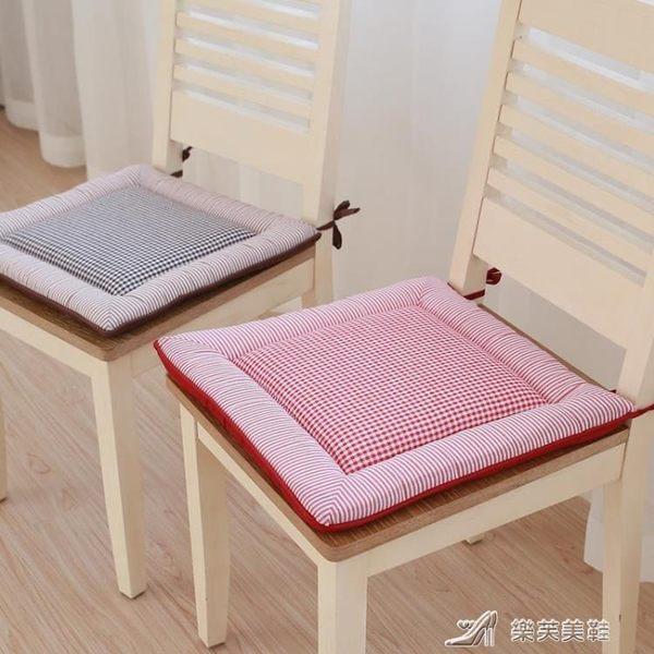 日式坐墊椅墊學生教室辦公室椅子墊子凳子坐墊帶綁帶榻榻米餐椅墊 樂芙美鞋