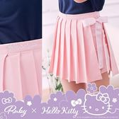 褲裙 Hello Kitty x Ruby 聯名款.學院風側蝴蝶結百褶褲裙-Ruby s 露比午茶