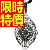祖母綠寶石項鍊墜子S925純銀2.38克拉-生日情人節禮物首飾53be36【巴黎精品】