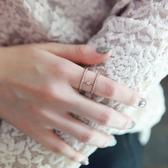 戒指 925純銀 鑲鑽-簡約百搭生日情人節禮物女開口戒3色73dv10[時尚巴黎]