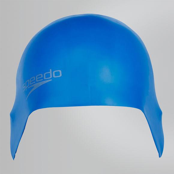 【線上體育】SPEEDO 成人矽膠泳帽PLAIN MOULDED 寶藍